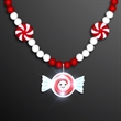 LED Happy Mint Candy Peppermint Necklace