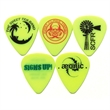 GrippX Standard Shape Guitar Pick Matte Neon Yellow - Matte finish standard shape guitar pick.