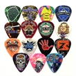 Celluloid Standard Shape Guitar Pick Gloss Colors FULL COLOR - Gloss finish standard shape guitar pick.