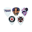 GrippX Standard Shape Guitar Pick Matte White FULL COLOR - Matte finish standard shape guitar pick.