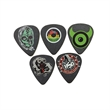 GrippX Standard Shape Guitar Pick Matte Black FULL COLOR - Matte finish standard shape guitar pick.