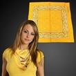 """Yellow  22"""" x 22"""" Cotton Paisley Bandanas - 22"""" x 22"""" yellow cotton bandana with paisley pattern design."""