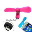 Micro Connector Mini Cell Phone Fan for Android Phones