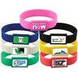 Silicone Wristband with Large Vibraprint Patch -