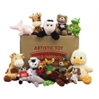 100 Assorted Size and Style Plush Toys