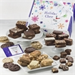 CUSTOM HOLIDAY CHEER DELIGHTS - Brownies, cookies and bars for a crowd in a cheery holiday box with your logo.