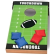 CORNHOLE FOOTBALL TOSS GAME - Toss bean bags into the hole to score a touchdown.