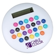 Colorful Calculator - Round calculator with colorful rubber buttons.