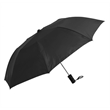 "Budget Folding Umbrella - Folding umbrella with matching plastic handle and sleeve, automatic opening, 42"" arc and polyester fabric."