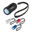 Small Aluminum Stubby LED Flashlight With Strap