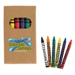 6-Piece Crayon Set - 6-piece crayon set with black, blue, green, orange, red and yellow