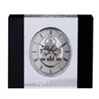 McKinley Skeleton Clock - Optically perfect crystal desktop clock with skeleton gearing; powered by 1 AAA battery.