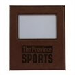 "Leatherette 4 x 6 Picture Frame - 9.31"" x 8.19"" x 0.5"" photo frame made for 4"" x 6"" pictures with a synthetic leather frame."