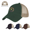 Washed Cotton Mesh Back Cap - Washed Cotton Mesh Back Cap with 100% Washed Cotton Twill Crown. 6 Panel, Low Profile, Unstructured Crown & Pre-Curved Visor.
