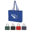 "Non-Woven Shopper Tote with Velcro (R) Closure - Non-Woven Shopper Tote with Velcro (R) Closure.  Made of 80 Gram Non-Woven, Coated Water-Resistant Polypropylene.  30"" Handles."