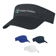 Polyester Visor - Polyester Visor. Pro-Stitching on Front Pre-Curved Visor. Double Layer Sweatband. Adjustable Self-Material Strap.