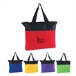 """Non-Woven Zippered Tote Bag - Non-Woven Zippered Tote Bag.  Made of 80 Gram Non-Woven, Coated Water-Resistant Polypropylene.  22"""" Handles.  Spot Clean/Air Dry."""