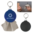 Rubber Key Chain With Microfiber Cleaning Cloth - Rubber key chain with microfiber cleaning cloth.