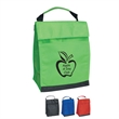 Non-Woven Insulated Lunch Bag - Non-woven insulated lunch bag with front pocket with coordinating web handle.
