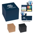 Office Buddy Cube - Office cube with sticky notes, sticky flags and built-in pen holder.