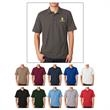 UltraClub (R) Men's Basic Blended Pique Polo - Men's Basic Blended Pique Polo  60% Cotton/40% Polyester Pique.   5 oz.  Biopolish with Silicone Finish.  Relaxed Fit.