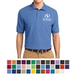 Port Authority® Men's Silk Touch™ Polo - Silk touch polo with metal buttons and a flat collar and cuffs.