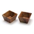 Acacia S/2 Square Pinch Bowls - Acacia Square Pinch Bowls, Set of 2
