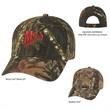 Realtree(TM) & Mossy Oak (R) Hunter's Retreat Camouflage Cap - Hunter's Retreat Camouflage Cap.  60% Cotton/40% Polyester.  6 Panel, Medium Profile.  Structured Crown & Pre-Curved Visor.