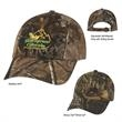 Realtree(TM) & Mossy Oak(R) Hunter's Hideaway Camouflage Cap - Hunter's Hideaway Camouflage Cap.  60% Cotton/40% Polyester.  6 Panel, Low Profile.  Unstructured Crown & Pre-Curved Visor.