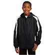 Sport-Tek Youth Fleece-Lined Colorblock Jacket. - Sport-Tek Youth Fleece-Lined Colorblock Jacket.