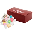 Medium Chest Candy Box with Salt Water Taffy - Salt water taffy in a custom christmas holiday corporate food gift chest candy box.
