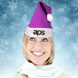 Purple Felt Santa Hats