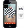 Augmented Reality Tattoos - Checkered Flag - Augmented Reality Temporary Tattoo: Checkered Flag