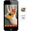 Augmented Reality Tattoos - Yellow Racecar - Augmented Reality Temporary Tattoo: Yellow Race Car