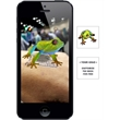 Augmented Reality Tattoos - Tree Frog - Augmented Reality Temporary Tattoo: Tree Frog