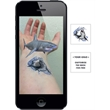 Augmented Reality Tattoos - Great White Shark - Augmented Reality Temporary Tattoo: Great White Shark