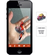 Augmented Reality Tattoos - Red Motorcycle - Augmented Reality Temporary Tattoo: Red Motorcycle