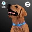 "Blue Light Up Dog Collars, Large - Large to Medium Blue Light Up Dog Collars, Adjustable Length 13.7"" to 20.5"""