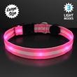 Pink Light Up Dog Collars, Large
