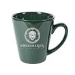 12 oz. Hunter Green Funnel Mug - 12 oz. ceramic mug with sleek funnel shape.