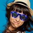 Blue LED Trendy Sunglasses  with Sound Reactive Option