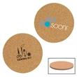 Cork And Fiberboard Round Beverage Coaster
