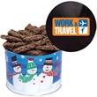 One Gallon Cookie Christmas Tin With Brownies - One gallon holiday christmas tin with brownies. Great holiday Christmas food gift tin idea.