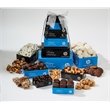 Six Tier Custom Logo Treat Tower - Pretzles, Nuts, Chocolate - Six tier treat tower which includes almond tea cookies, pretzels, sea salt caramels, mixed nuts, and truffles.  Great food gift.