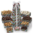 Presidential Sweet Nine-Tier Holiday Gift Tower - Nine tier gift tower includes peppermint, chocolate almonds, cookies, pretzels, almond butter curcnh, mixed nuts. Great food gift.