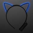 Blue EL Wire Cat Ears Headband
