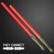 Double Sided Swords Sabers with Red LEDs and Sounds