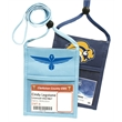 Popular Non-Woven zipper Neck Wallet with Printed Lanyard