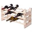 VinRack(TM) 18 Bottle Wine Rack (3 layers 6 bottles) Natural
