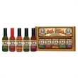 Five Pepper Hot Sauce Pack (5x5oz) - Five 5oz hot sauces in an attractive gift box. Choose from these hot sauces: Habanero, Cayenne, Garlic, Jalapeno.